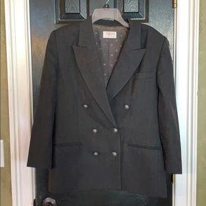 Talbots gray double wool blazer